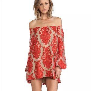 NWOT For Love and Lemons Lace Off Shoulder Dress M